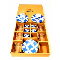 Tea and Coffee cups Set - Turkish (Set of 18)