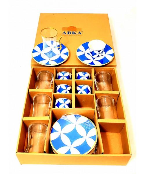 Tea and Coffee cups Set - Turkish (Set of 18)