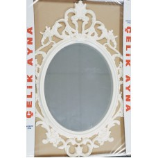 "Wall Art - Oval Mirror (33""x21"" with Frame)"