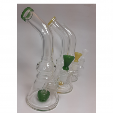 """Water Pipe - 8"""" Bent Shower w/Colored Bowl"""