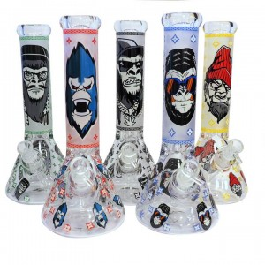 Water Pipe - 13'' Glow in the Dark Assorted Designs - 7mm