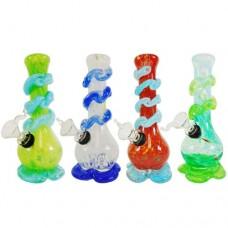 """Soft Glass Water Pipe - 7"""" Fancy"""