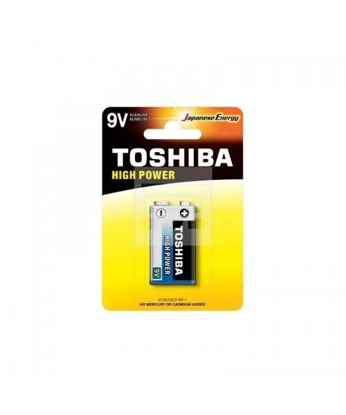 Toshiba High Power Alkaline Batteries - 9V (1 pack)