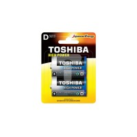 Toshiba High Power Alkaline Batteries - D (2 pack)