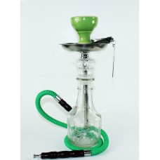 Small Hookah - Clear with Clear Vase