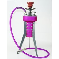 Frosted Glass Hookah on 3 Leg Stand