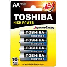 Toshiba High Power Alkaline Batteries - AA (4 pack)